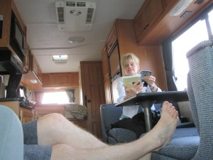 getting comfy in RV